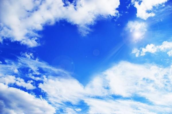 Image: White Clouds Making A Heart Shape Against A Blue Sky Image From Bigstock