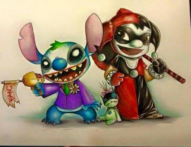 I Love Harley Quinn And Lilo I Also Love The Joker And Love Stitch