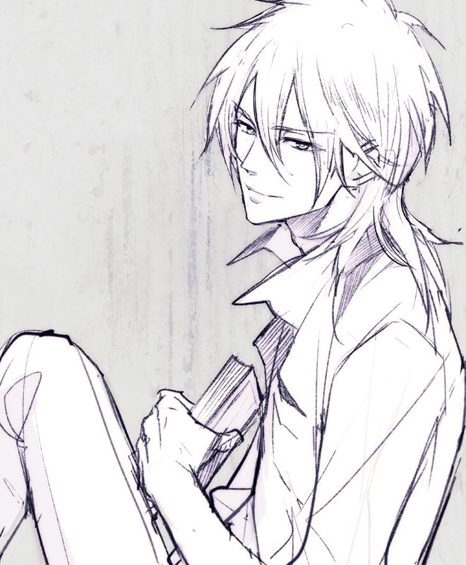 anime   art   black and white   boy   gif   like   makishima shougo   manga   monochrome   psycho pass