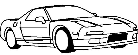 honda nsx 1990 coloring page honda car coloring pages
