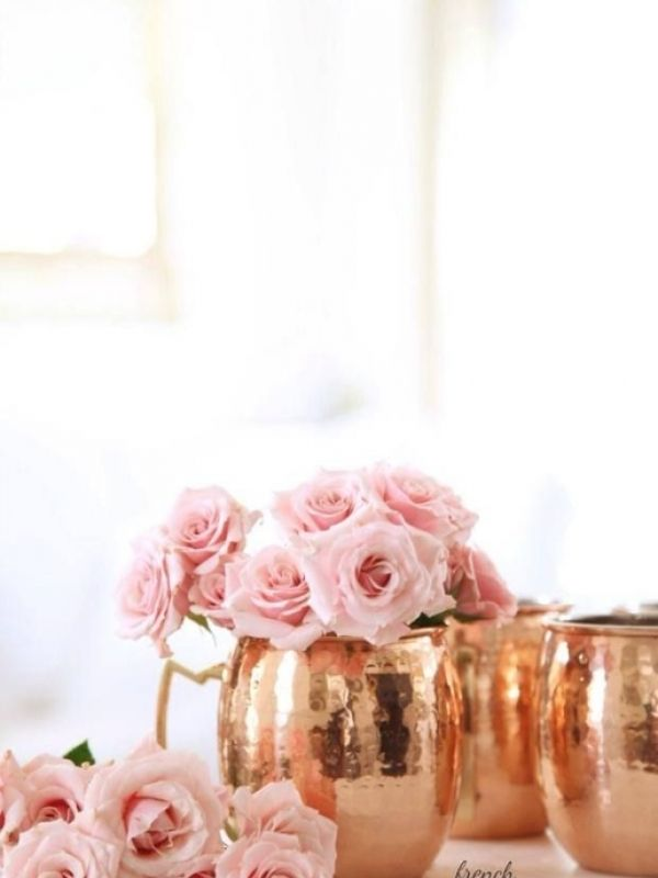 moscow mule mugs copper rose gold vases favors french bathroom decorpink