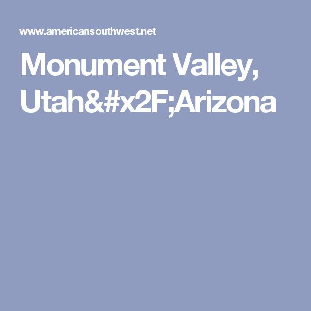 Monument Valley, Utah/Arizona