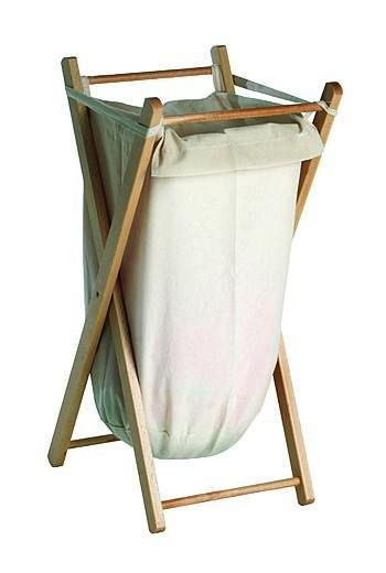 Wood Framed Laundry Unit With Removable Canvas Bag Laundry