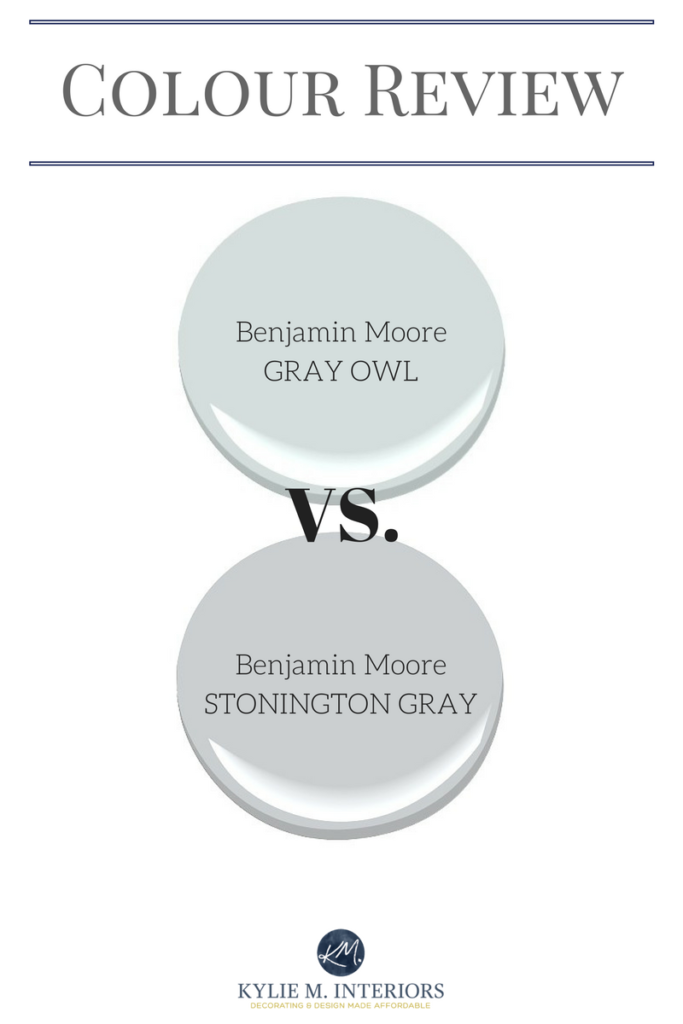 Benjamin Moore Gray Owl Vs Stonington Gray Comparing