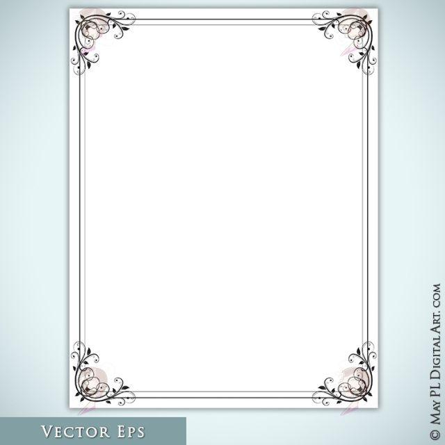 foliage document design 8x11 page borders graphics leafy vine frame clip art vector eps 10283 ve_4
