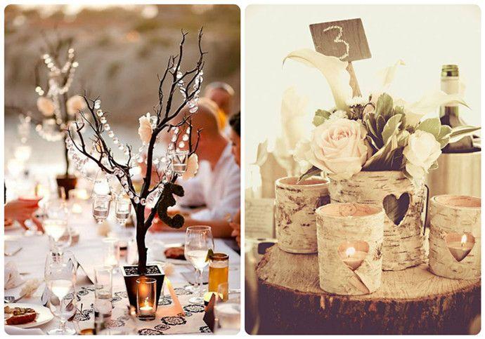 Outdoor Wedding Table Centerpieces