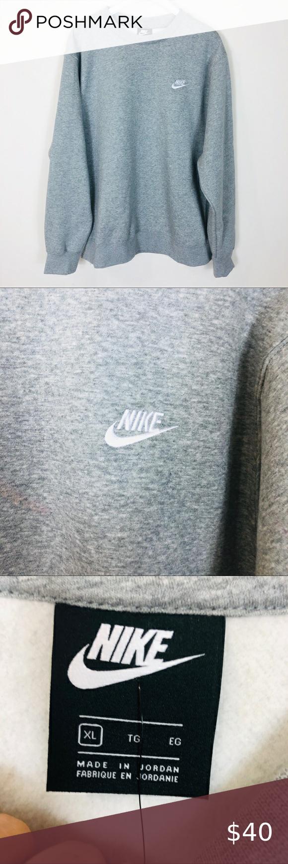 Nike Sportswear Club Grey Crewneck Sweatshirt Nwt Crew Neck Sweatshirt Grey Crewneck Nike Sportswear [ 1740 x 580 Pixel ]