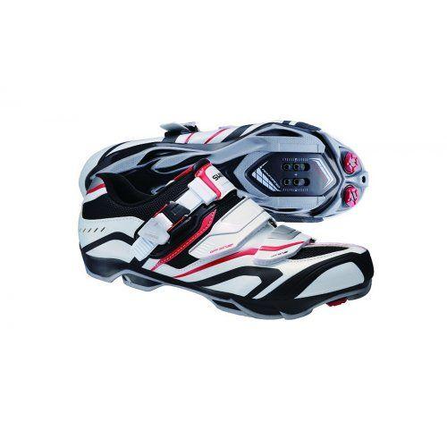 Shimano SH-XC60 breite Vers Mountain Bike Shoes weiß-schwarz-rot red/white