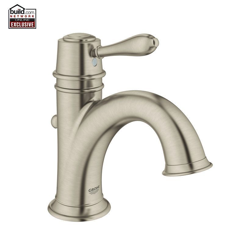 Contemporary Art Sites Grohe Fairborn Single Hole Bathroom Faucet with SilkMove Free Metal Pop Up Drain Assembly with purchase Image