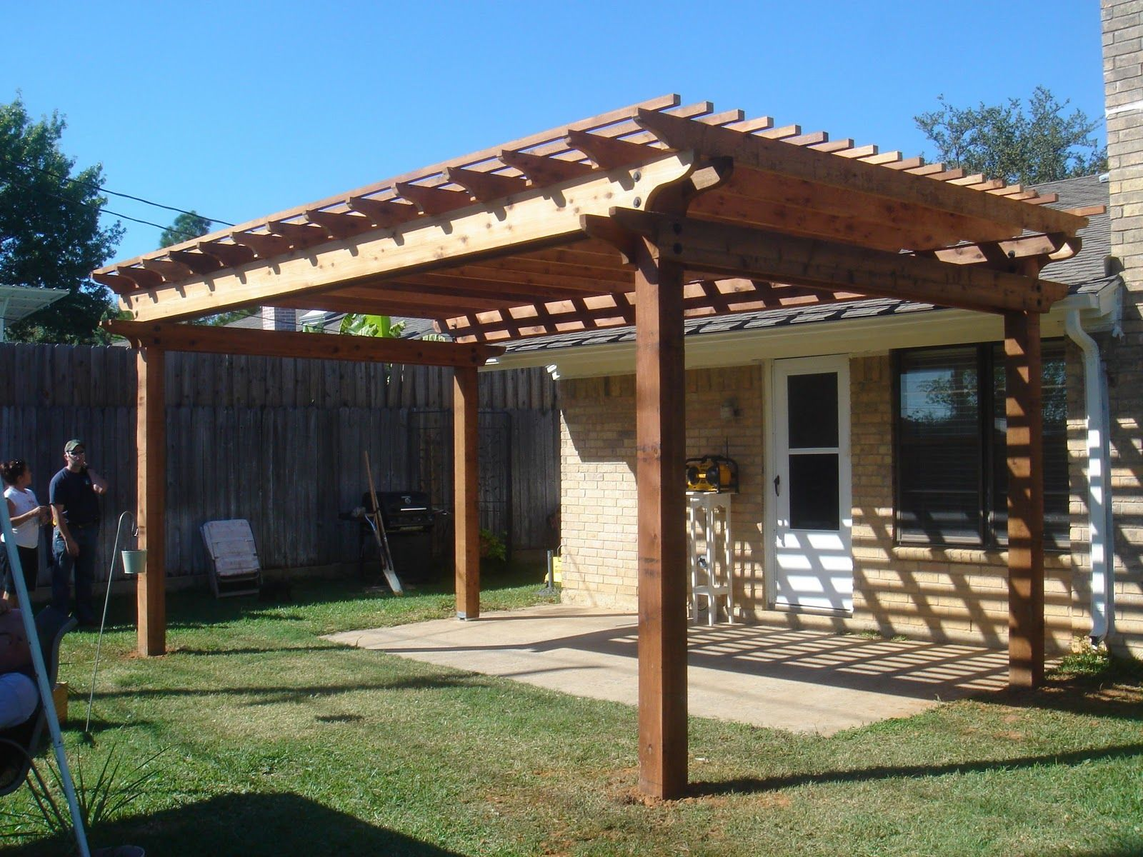 Backyard pergola and junkyard dog | Wooden Gazebo Kits | Pinterest ...