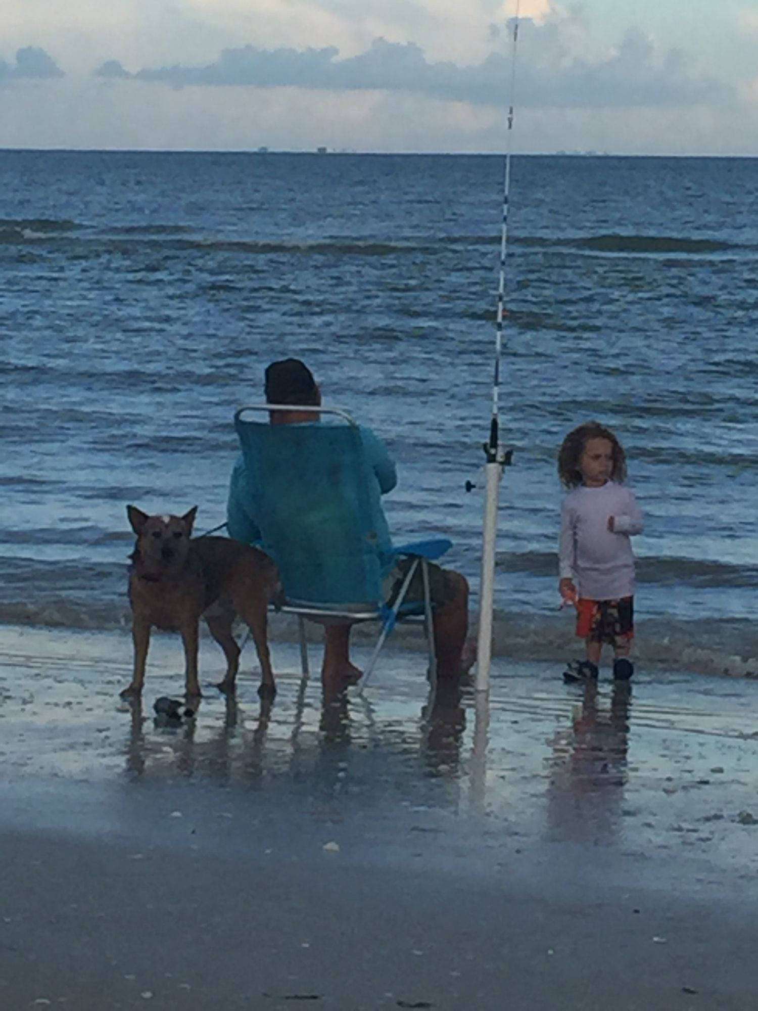 Grandpa showing them how to fish n relax..Sanibel Florida 2016