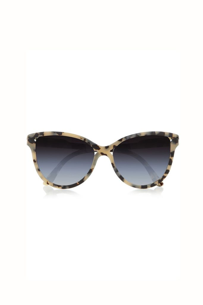 79b511adfc Gafas cat eye con montura de carey estilo animal print de Stella McCartney.