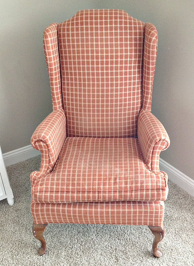 DIY: Rustic Reupholstered Wing Back Rocker | Furniture ...
