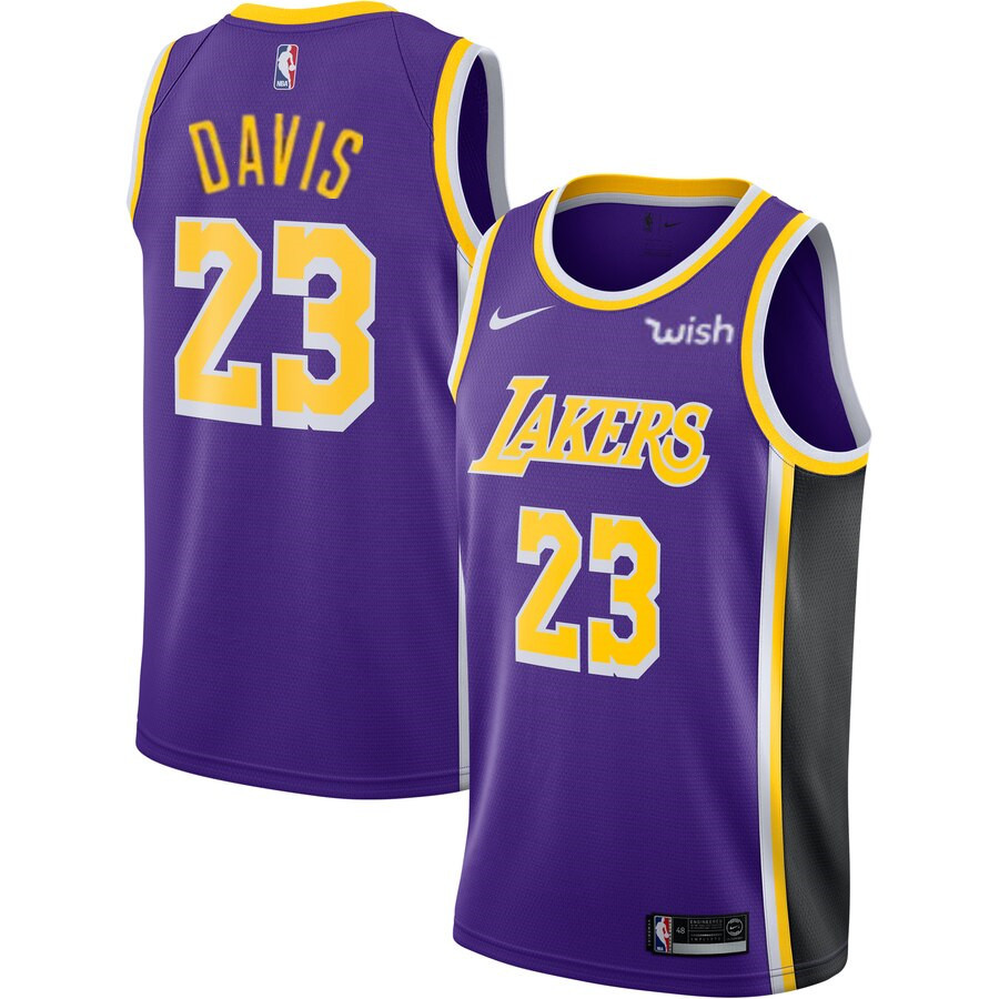 Men S Los Angeles Lakers 23 Anthony Davis 2019 Purple Nike Swingman Wish Stitched Nba Jersey Los Angeles Lakers Lebron James Lebron James Lakers