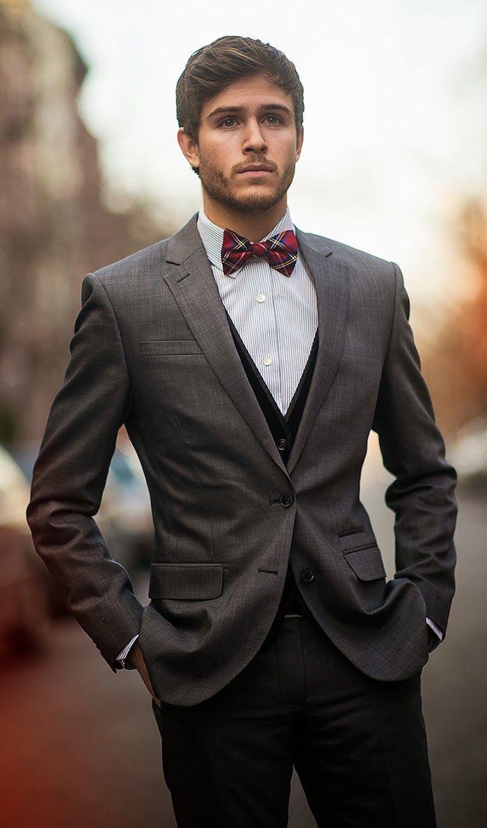 party outfit männer mann mit stil schönes outfit stylen idee grauer ...