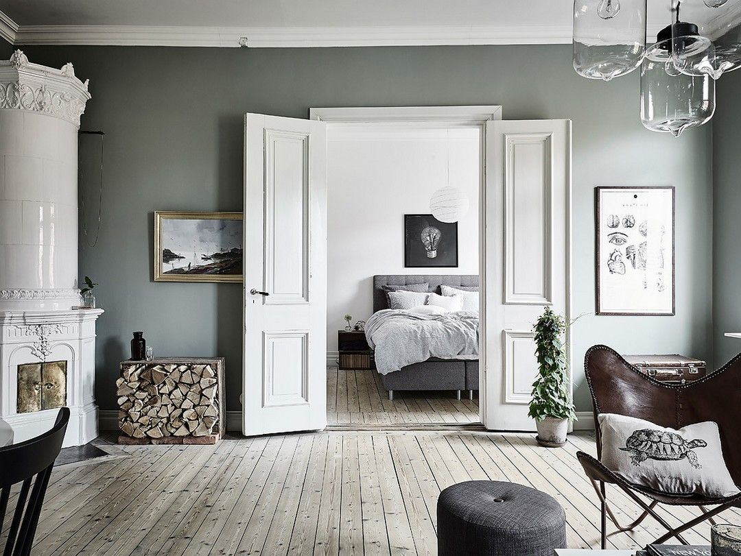 MURS VERT DE GRIS. Gray BedroomSwedish DecorSwedish ...