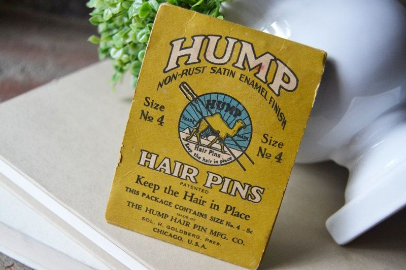 Vintage Hair Pins, Hump Hair Pins, Collectible Hair Accessory by TheCottonJen on Etsy