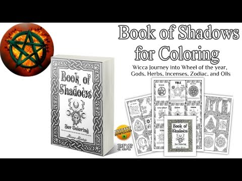 4 Flip Through Book Of Shadows For Coloring Ready Made Bos Wiccan Coloring Book Youtube Book Of Shadows Coloring Books Wiccan Books