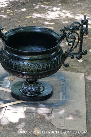 Antique Garden Urn Restoration U2013 We Made A Latex Mold To Replace Missing  Pieces, Repaired