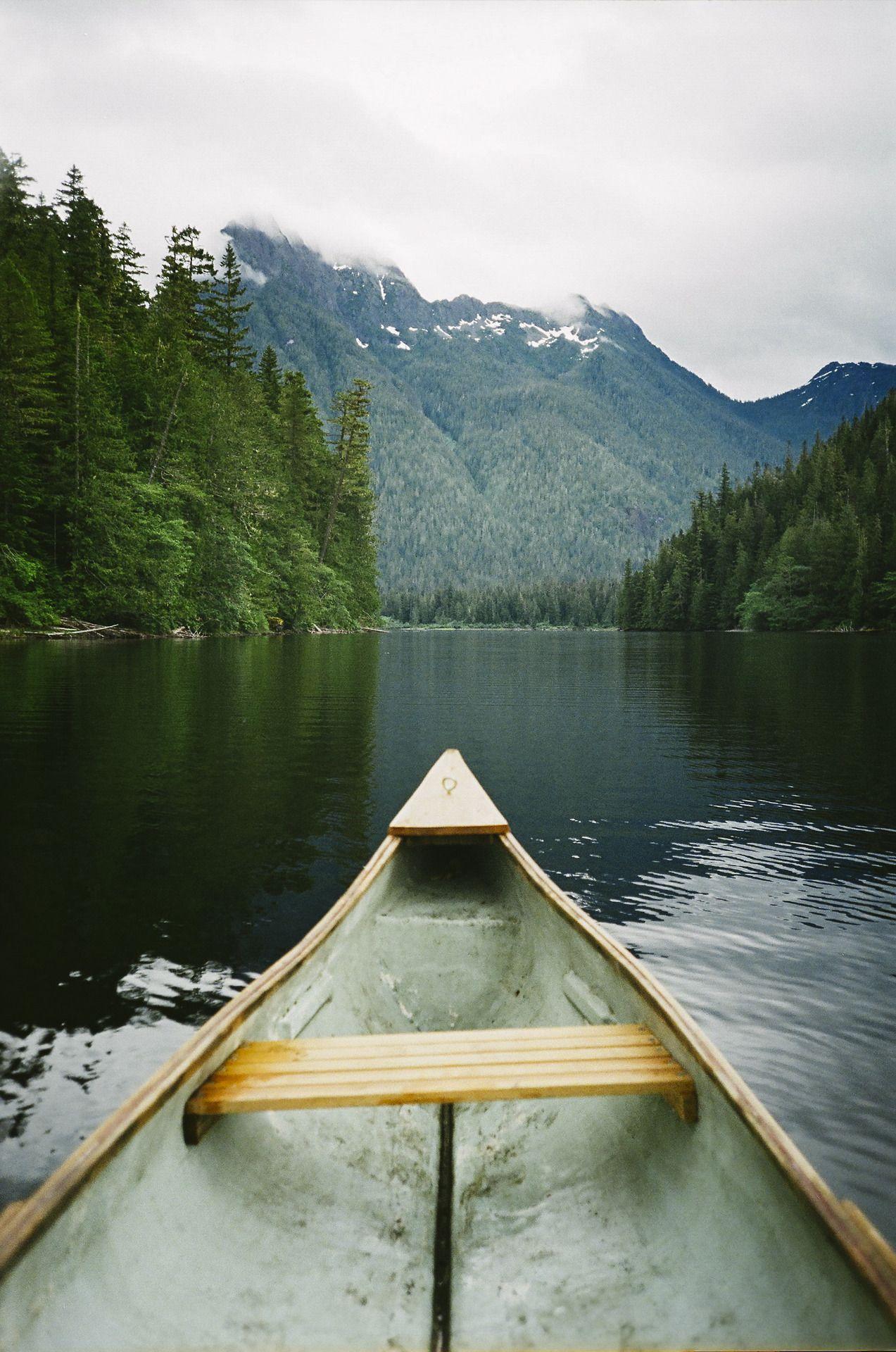 Lake Vibes Camping Wallpaper Nature Wallpaper Camping Experience Wallpaper green lake boat mountain fog