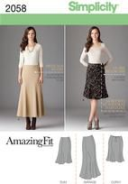 Simplicity Amazing Fit Collection Misses' & Plus Size Skirt Pattern 2058