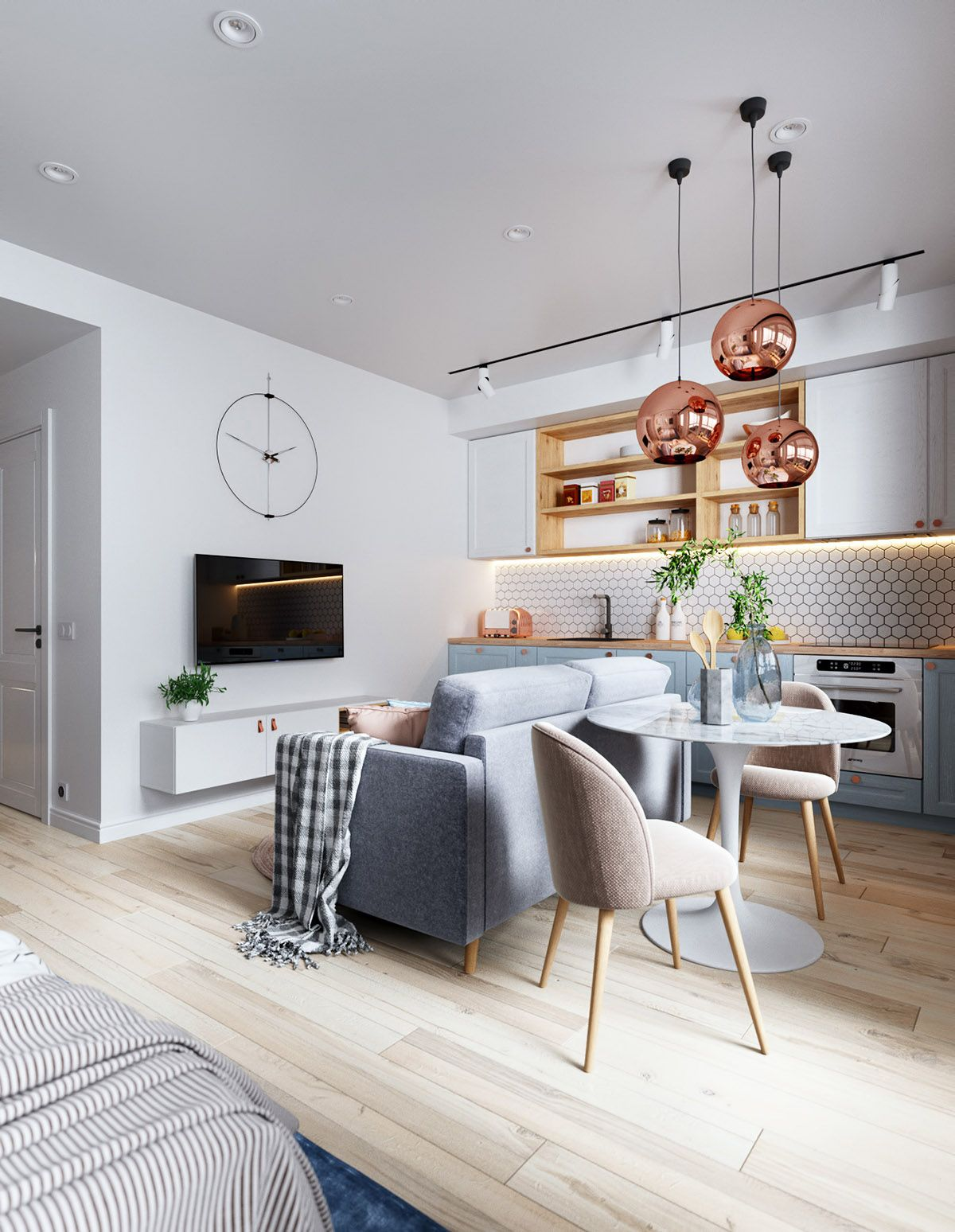 3 Small But Super Stylish Apartments Small Space Living Room