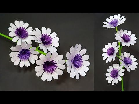 Paper Flower: How to Make Paper Stick Flower Home Decoration Idea!! DIY | Abigail Paper Crafts #paperflowersdiy