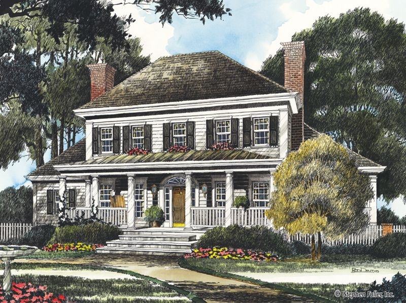 Southern Colonial House Plans Country Style House Plans Southern House Plans