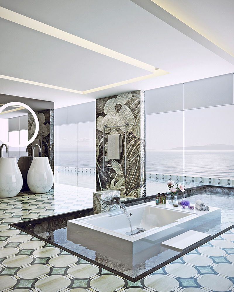 Decorative Wall Tiles Bathroom Unique Decorative Bathroom Tiles ...