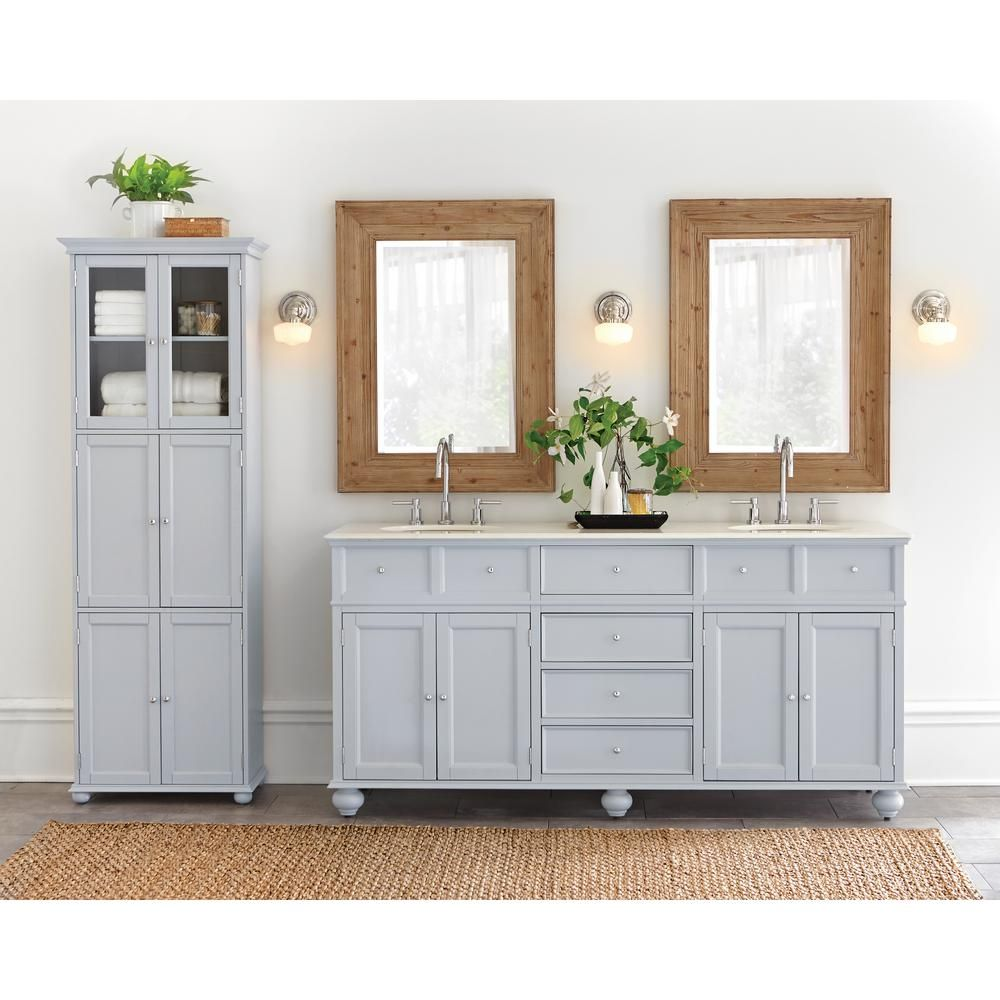 Home Decorators Collection Hampton Bay 25 in. W x 72 in. H x 14 in ...