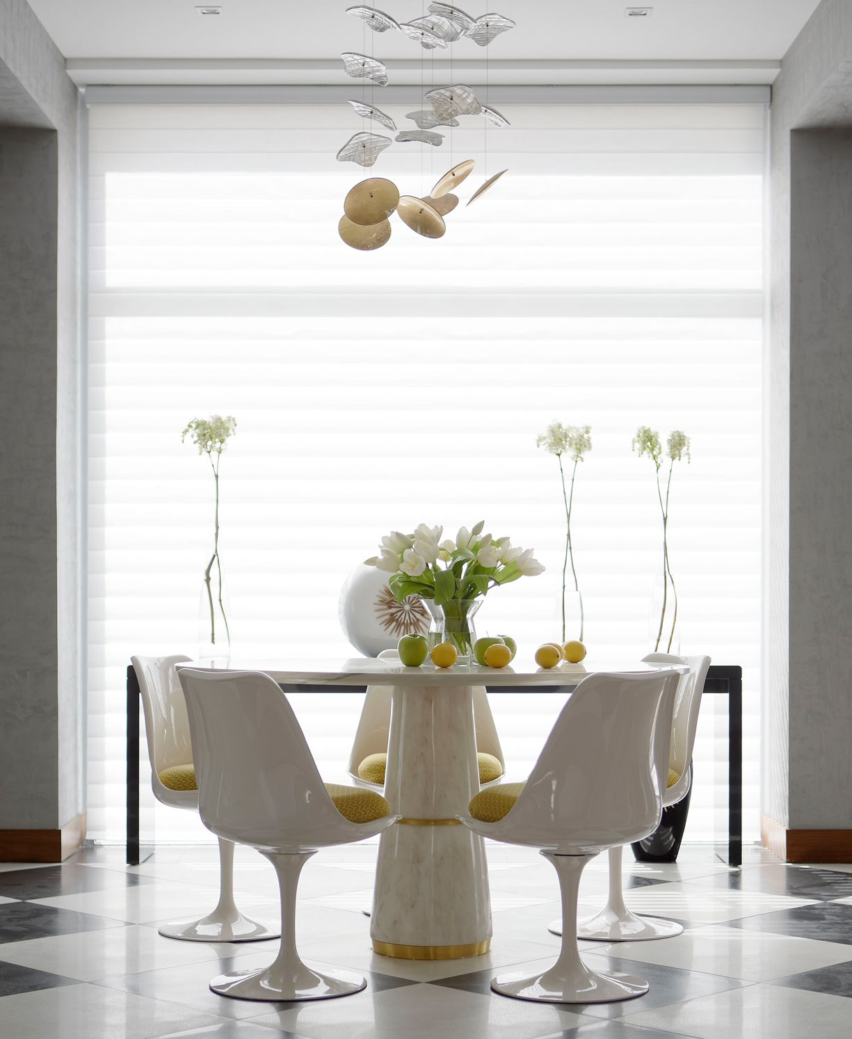 AGRA Marble Dining Table Contemporary Design by BRABBU gives a ...