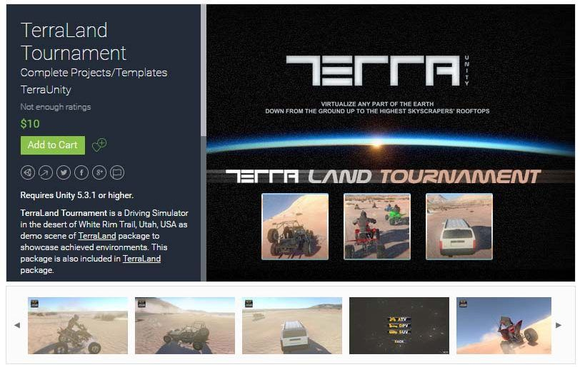 TerraLand Tournament Unity Asset Store Unreal Engine Unity