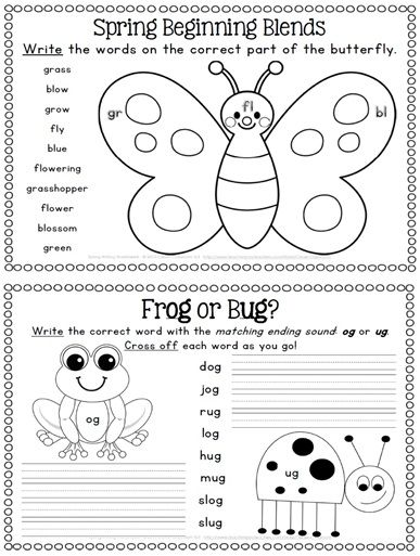 Spring Literacy Centers And Worksheets Bundle 165 Pages Kindergarten Activities Spring Kindergarten Spring Worksheets Kindergarten Free printable spring worksheets for