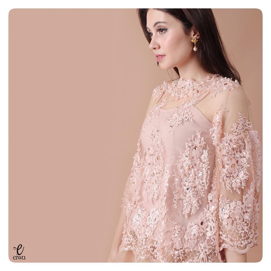 simple long sleeve lace top, kebaya modern indonesia brokat http ...
