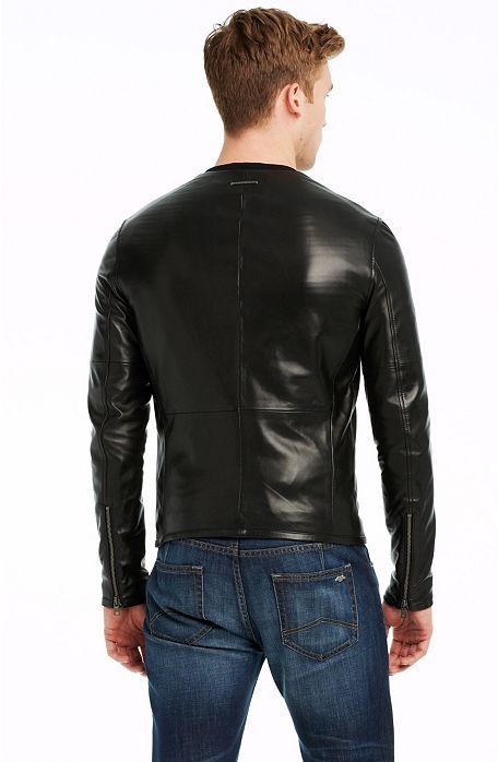 d9aa28c8 Clean Leather Jacket - Jackets & Blazers - Mens - Armani Exchange ...