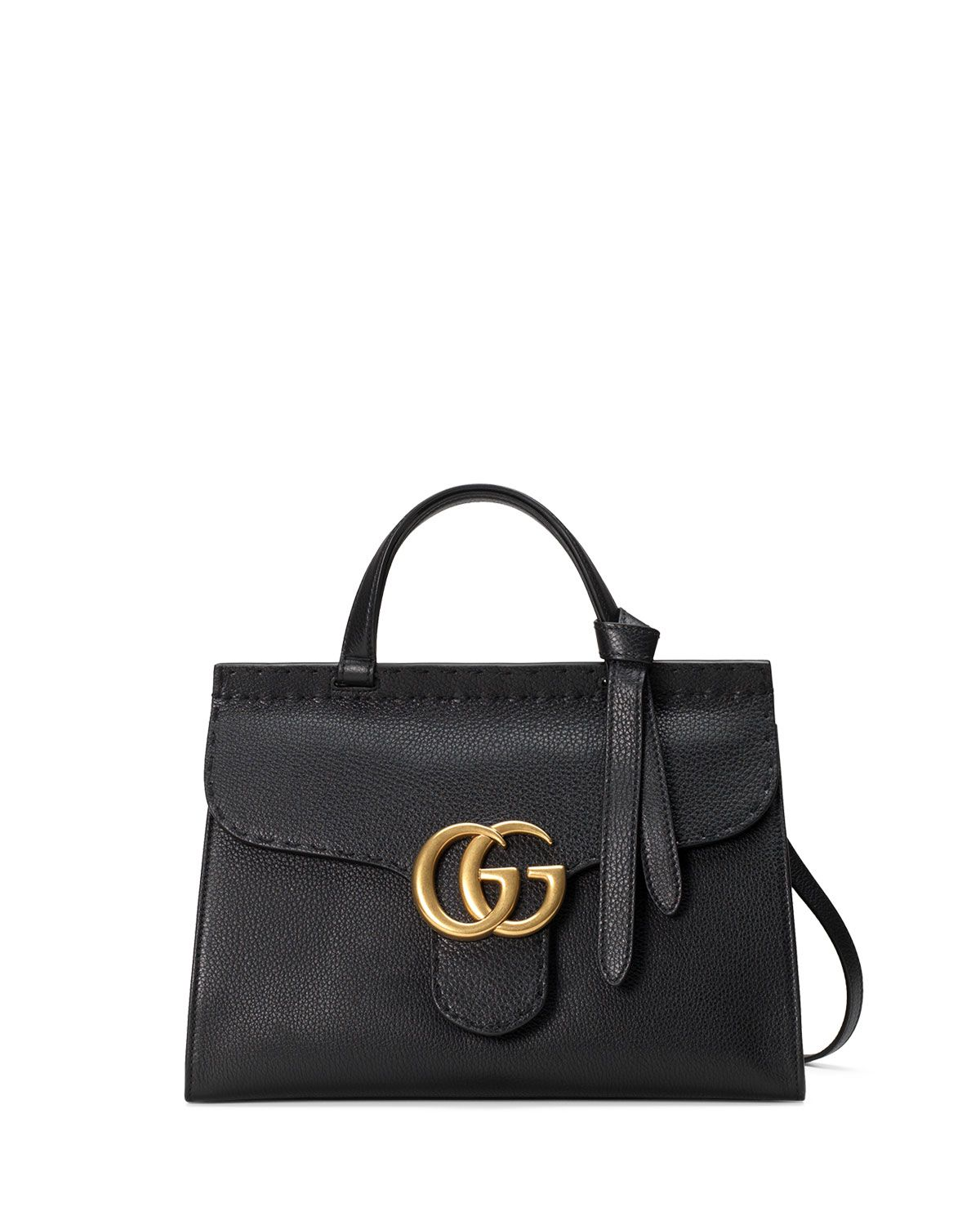 0e03756dd1c4 GG Marmont Small Top-Handle Satchel Bag Black | *Handbags, Wallets ...