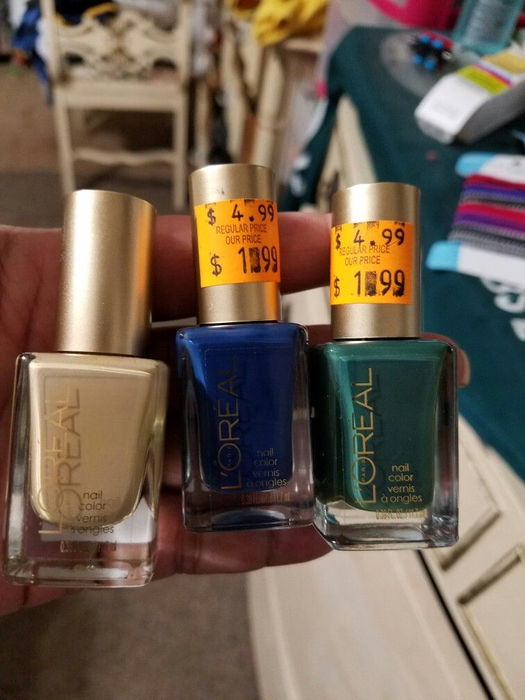 I got all three nail Polish from Grocery Outlet. Retail for $1.99 ...