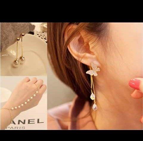 Bracelet with ear studs