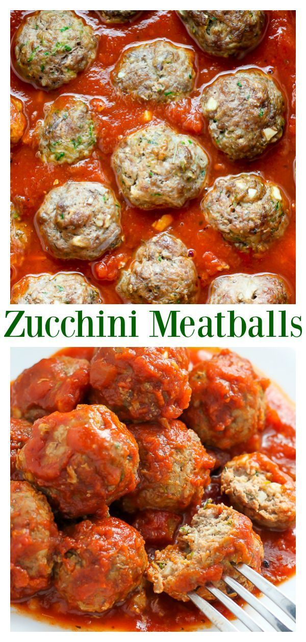 Photo of Baked Turkey Zucchini Meatballs – Baker by Nature