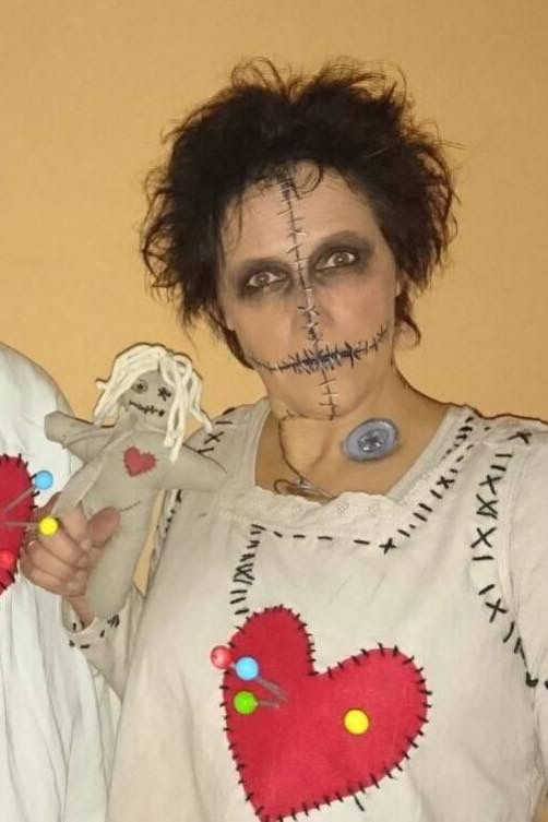 voodoo puppe doll halloween kost m schminke make up fasching horror kost me costumes pinterest. Black Bedroom Furniture Sets. Home Design Ideas