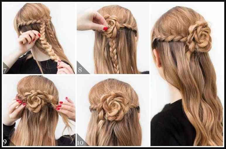 inspirierend lange haare frisuren selber machen bilder
