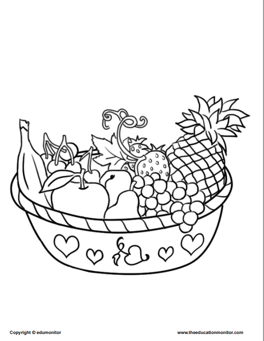 Coloring Pages for Kids Learning Nutrition|Kids Coloring Pages ...