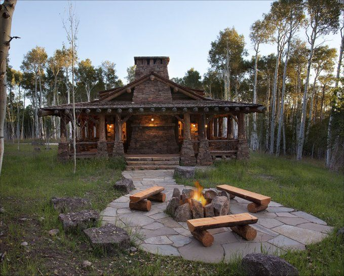 Beautiful Log Home With Wrap Around Porch – Log Homes Lifestyle in ...