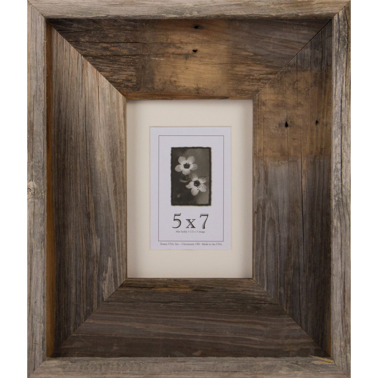 Usa Barnwood Signature Series Picture Frame 5 X 7 3 8