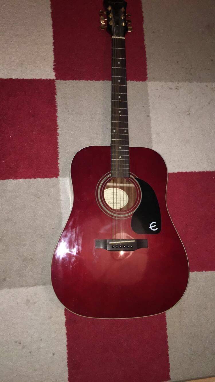 Epiphone Acoustic Guitar Wine Red Epiphone Acoustic Guitar Epiphone Acoustic Guitar