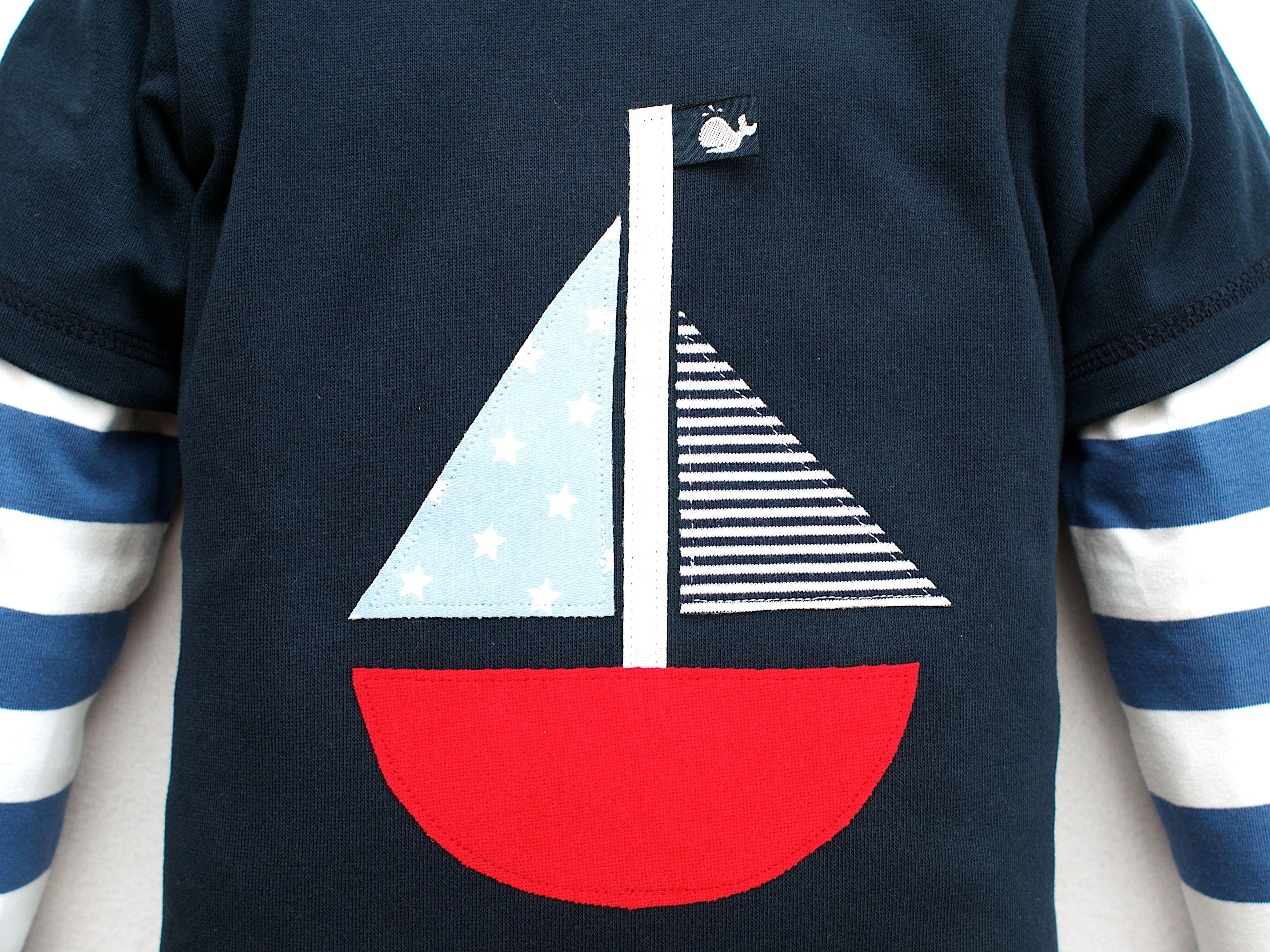 Segelboot applikation  Segelboot - Applikation | Nähen Zwerg | Pinterest | Segelboot ...