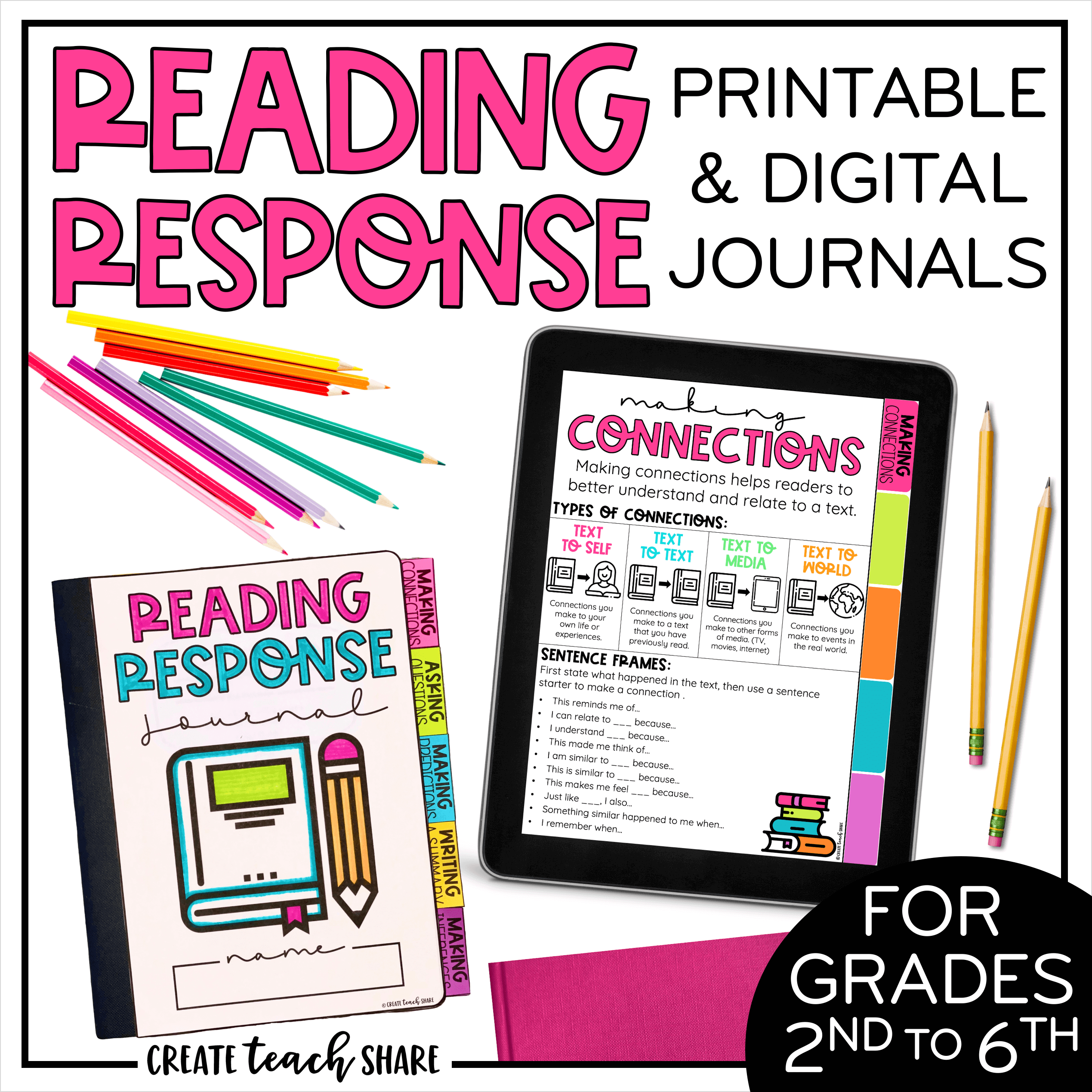 Back-to-School....Already?! - Create Teach Share   Reading response  journals [ 2538 x 2538 Pixel ]