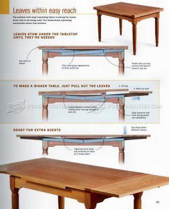 2620 expanding table plans furniture plans diy table plans rh pinterest com