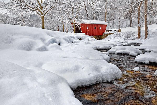 Kent Falls State Park In The Winter Kent Connecticut Winter Covered Bridges Streaming