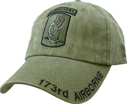 173RD AIRBORNE LOGO MILITARY BASEBALL CAP HAT FREE SHIPPING USA